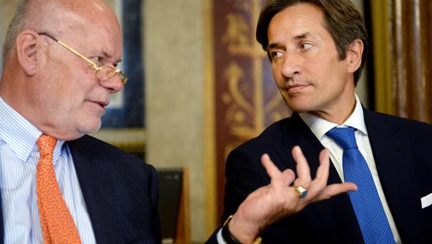 Wolfgang Ainedter und Karl-Heinz Grasser (Bild: APA/ROLAND SCHLAGER)
