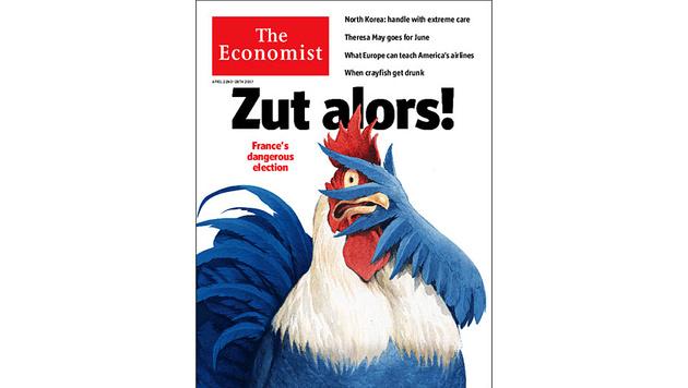 """Frankreichs Horror vor dem Zustand der Politik und dem Endlos-Terror auf dem Cover des """"Economist"""" (Bild: The Economist)"""