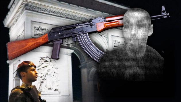 Vom 39-jährigen Paris-Attentäter (re.) wurde ein Foto veröffentlicht. (Bild: AFP/THOMAS SAMSON, AP, thinkstockphotos.de)