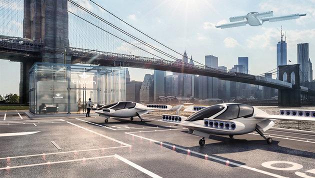 In Zukunft könnten Elektroflieger in Großstädten das Taxi ersetzen, glaubt Lilium Jet. (Bild: Lilium Jet)