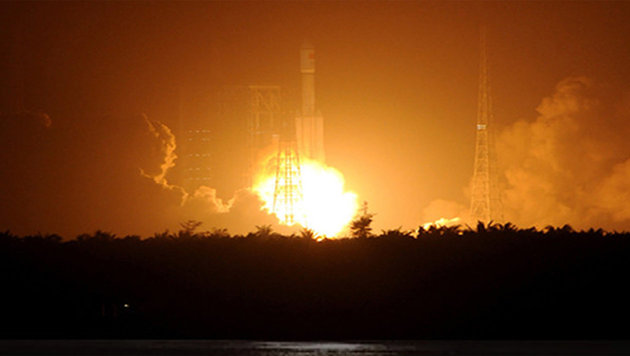 "Der Start des Raumfrachters ""Tianzhou-1"" (Bild: China Manned Space Agency)"
