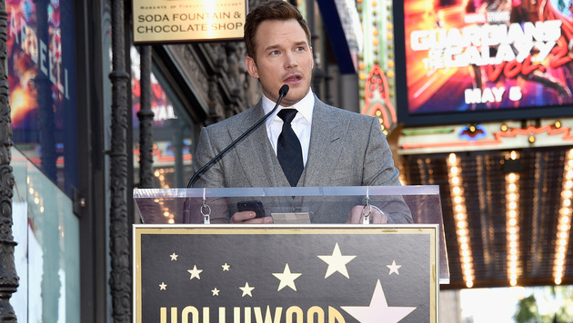 "Chris Pratt enthüllte ""Walk of Fame""-Stern (Bild: AP)"