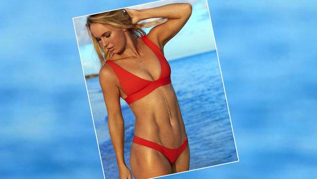 Den Bauch kann man herzeigen. Tennis-Ass Caroline Wozniacki präsentiert ihren Top-Body. (Bild: Instagram)