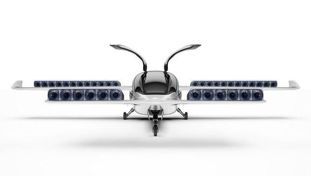 Insgesamt 36 akkubetriebene Propeller helfen dem Lilium Jet in die Luft. (Bild: Lilium Jet)