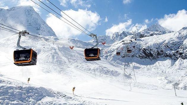 100 Menschen in Gletscherbahn-Gondeln gefangen (Bild: www.stubaier-gletscher.com)