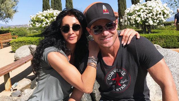 Felix Baumgarnter mit Feundin Mihaela in Los Angeles (Bild: facebook.com/FelixBaumgartner)