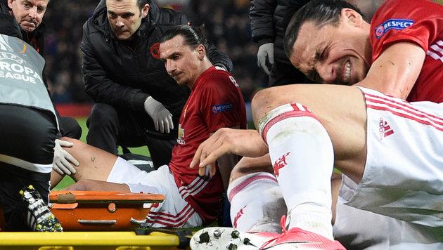 Kreuzbandriss bei Ibrahimovic: Karriereende? (Bild: AFP/OLI SCARFF)