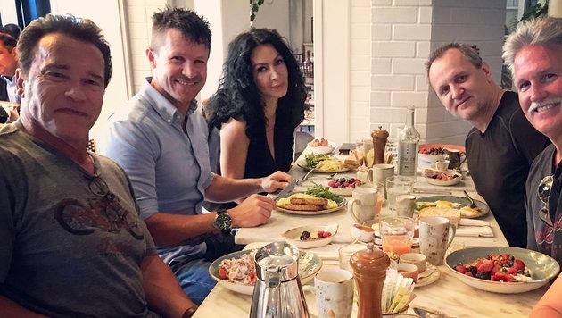 """""""Frühstück mit Freunden"""", gepostet von """"All-Felix"""" (Bild: facebook.com/FelixBaumgartner)"""