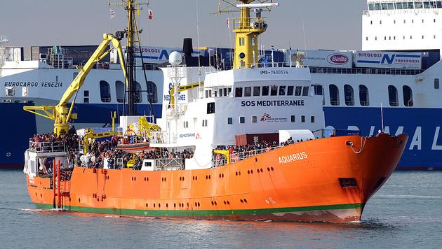 Die Aquarius ist für die Organisation SOS Mediterranee im Einsatz. (Bild: AFP)