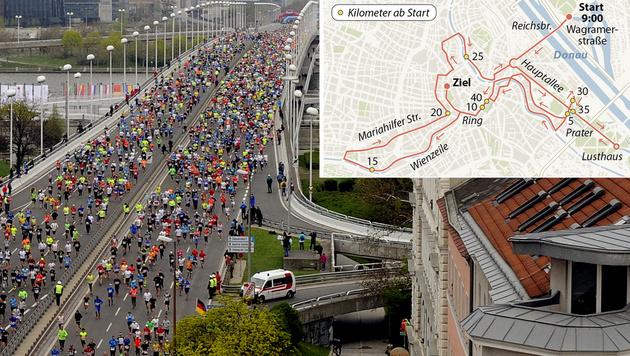 Alle Fakten zum großen Vienna City Marathon (Bild: APA/HERBERT PFARRHOFER)