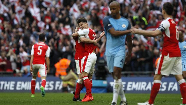 Arsenal besiegt ManCity und steht im Cup-Finale (Bild: Copyright 2017 The Associated Press. All rights reserved.)