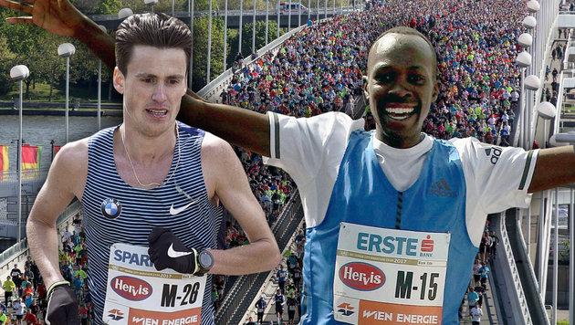 Kenianer Albert Korir gewinnt Vienna City Marathon (Bild: AP/Ronald Zak, APA/HANS PUNZ)