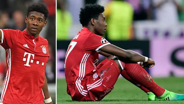 Knieverletzung! FC Bayern bangt um David Alaba (Bild: APA/dpa/Matthias Balk, AFP)