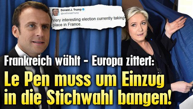 Le Pen muss um Einzug in Stichwahl bangen