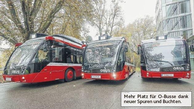 Die Stadt Salzburg denkt an neue Spuren für die O-Busse (Bild: Markus Tschepp)