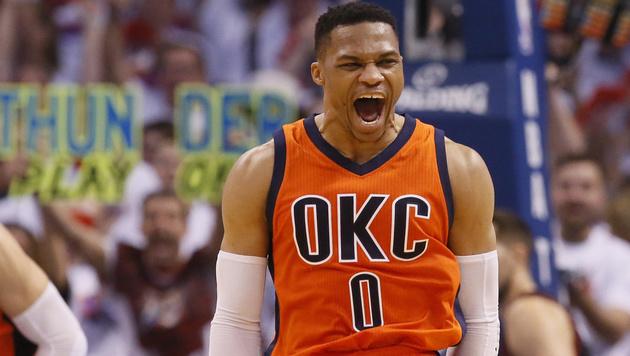Westbrook stellt neuen Rekord auf (Bild: AP)