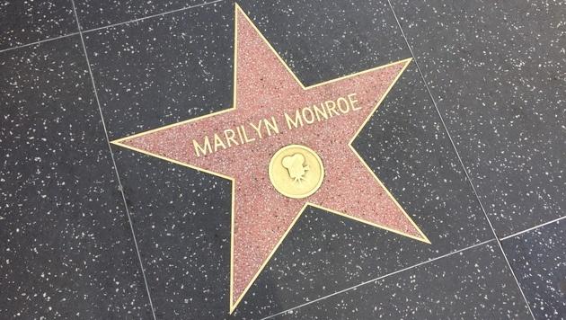 Marilyn Monroes Stern am Hollywood Walk of Fame zieht täglich Touristen an. (Bild: Clara Milena Steiner)