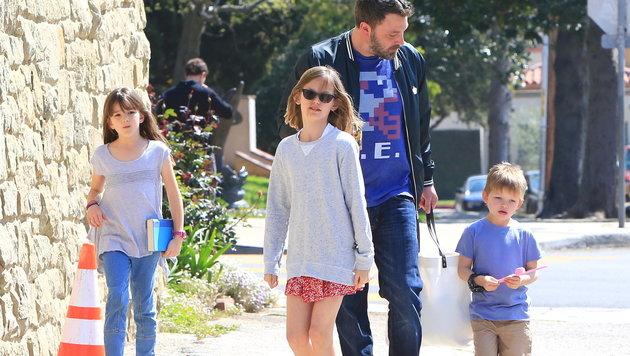Ben Affleck und seine Kinder (Bild: Viennareport)