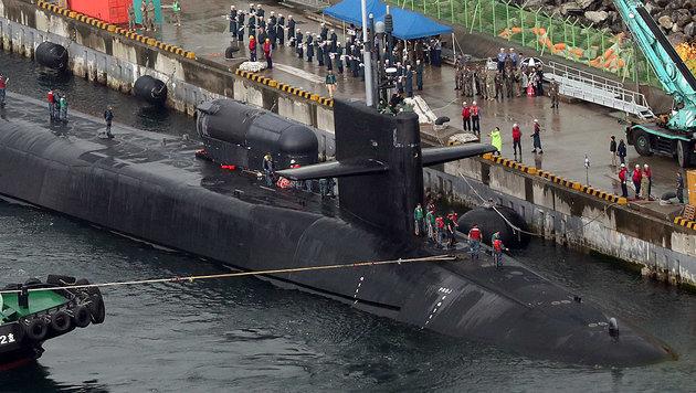 Die USS Michigan im Hafen von Busan (Bild: AFP)
