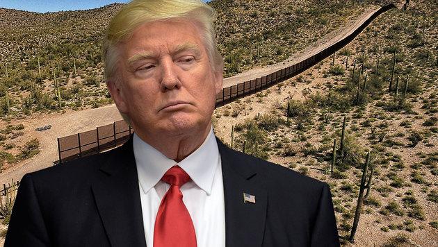 Trumps Mauer bleibt vorerst ein unfinanzierbares Wahlversprechen. (Bild: AFP)