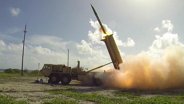 Das US-Raketenabwehrsystem THAAD (Bild: AFP/Missile Defense Agency)