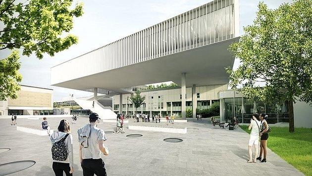 So soll das Campus-Gebäude der Linzer Medizin-Fakultät einmal aussehen (Bild: Kepler Uni-Klinikum)