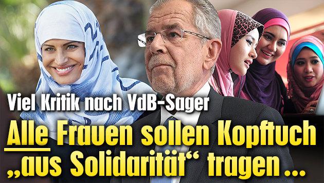 """Kopftuch für alle Frauen """"aus Solidarität"""" (Bild: APA/HELMUT FOHRINGER, thinkstockphotos.de)"""