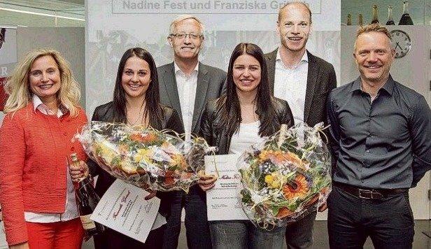 Fest, Gritsch wurden für Junioren-WM-Medaillen Dir. Wiesinger, Wörndl, ÖSV-Vize Walchhofer geehrt. (Bild: TS Bad Hofgastein)