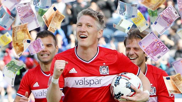 So viel cashen Schweinsteiger und Co. in der MLS (Bild: AFP/Dylan Buell, thinkstockphotos.de)
