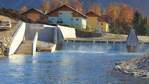 Die Seniorengruppe aus Bad Goisern wollte das neue Kraftwerk besichtigen (Bild: Marion Hörmandinger)
