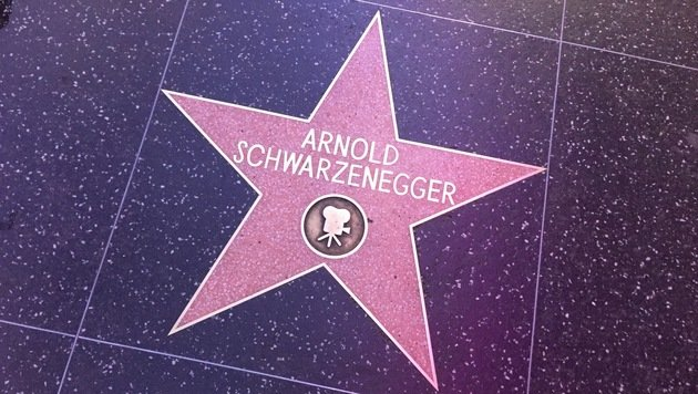 Arnold Schwarzenegger hat seinen Hollywood-Stern in der Kategorie Film erhalten. (Bild: Clara Milena Steiner)