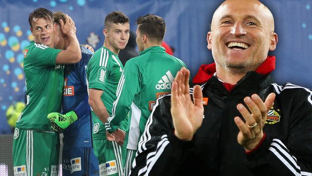 """Rapid-Coach Djuricin: """"Das war wirklich glücklich"""" (Bild: GEPA)"""