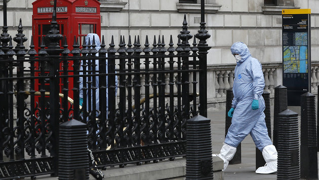 London: Mann unter Terrorverdacht verhaftet (Bild: AP)