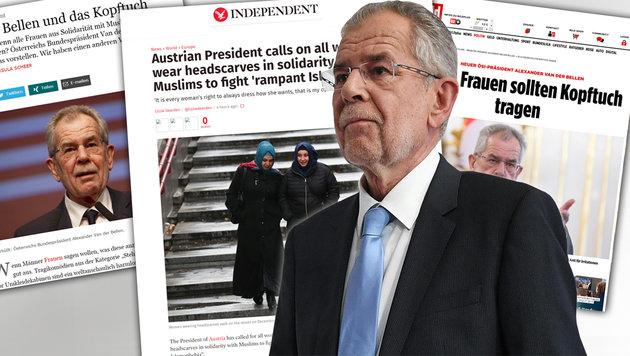 """Andreas Gabalier trägt Kopftuch aus """"Solidarität"""" (Bild: APA, bild.de, independent.com)"""
