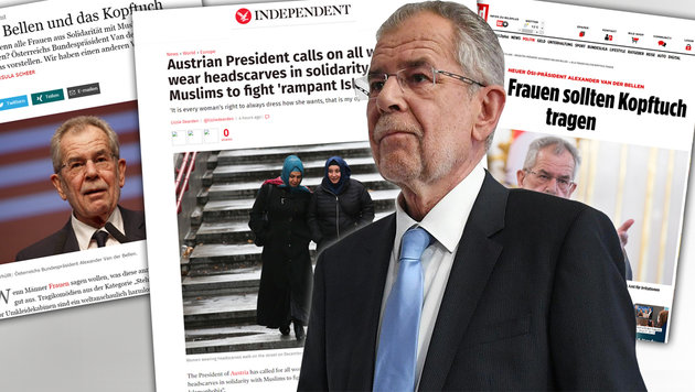 "Nach Kopftuch-Posting: ""Gabalier for President!"" (Bild: APA, bild.de, independent.com)"