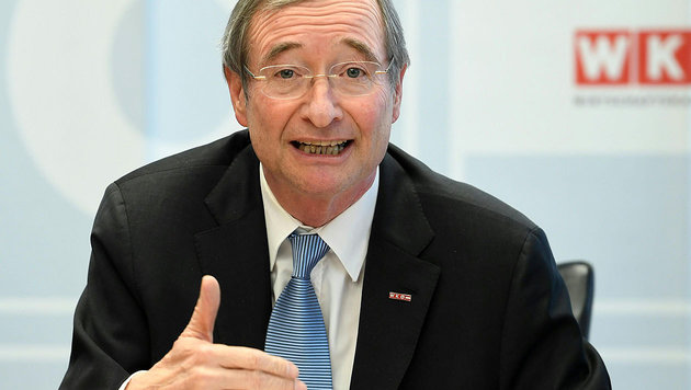 WKÖ-Präsident Christoph Leitl (Bild: APA/Helmut Fohringer)