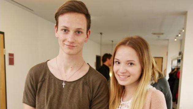 Anna und Daniel hörten auch gespannt zu (Bild: Max Grill)