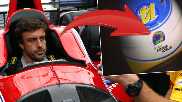 Formel-1-Star Alonso fährt für toten Elfjährigen! (Bild: AP, twitter.com)
