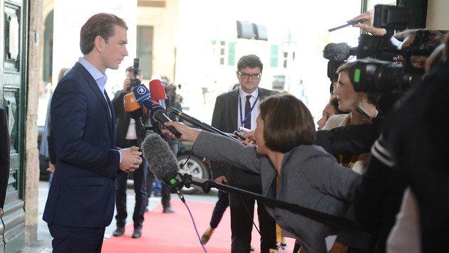 Deutschlands Außenminister frontal gegen Kurz (Bild: AP)