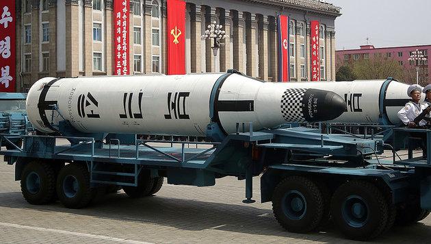 Nordkorea lässt keine Gelegenheit aus, um die angebliche Schlagkraft seines Militärs zu zeigen. (Bild: AP)