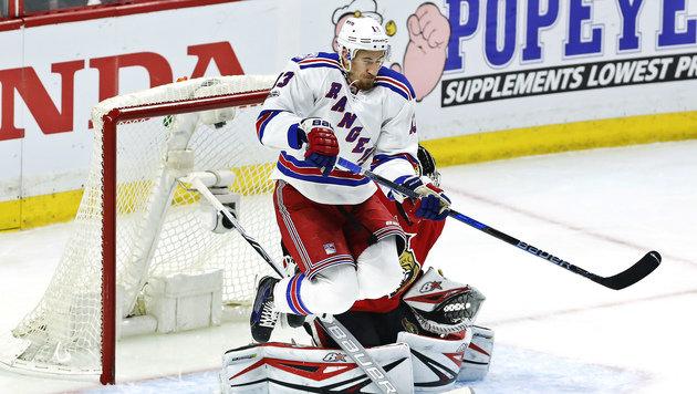 Grabner mit New York Rangers vor dem Play-off-Aus (Bild: AP)