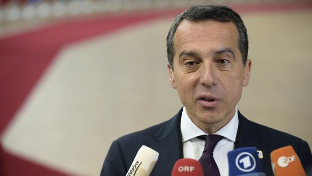 """Bundeskanzler Kern sieht in der Türkei eine """"äußerst besorgniserregende Entwicklung"""". (Bild: AFP)"""