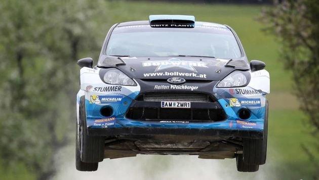 """Der """"Raser"""" im Ford Fiesta WRC war wieder nicht zu halten: Neubauer gewann auch in der Oststeiermark (Bild: GEPA)"""
