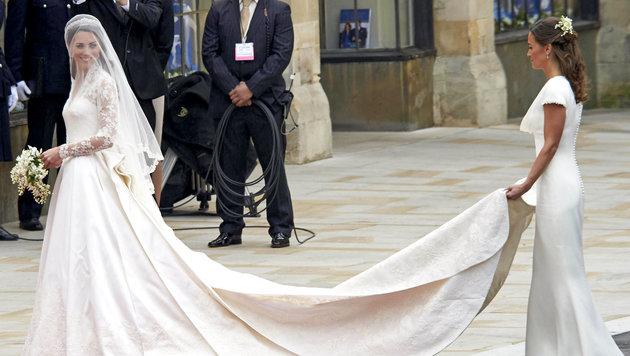 Pippa Middleton bei der Hochzeit ihrer Schwester Kate (Bild: Covacs/face to face)