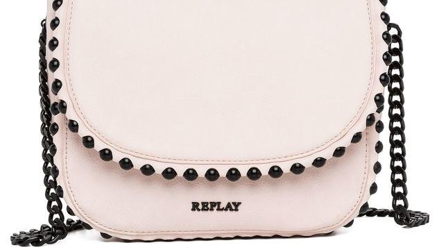Handtasche in zartem Rosa mit schwarzen Nieten (Bild: Replay)