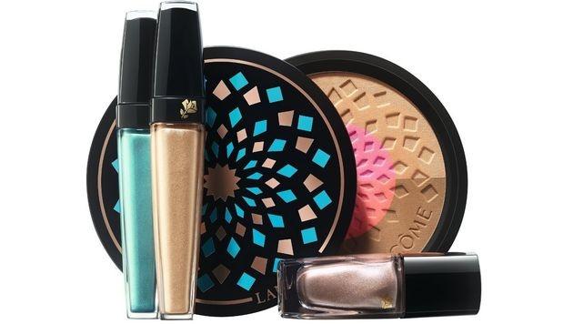 Sommerliche Make-up-Palette mit Lidschatten, Nagellack und Bronzer (Bild: Lancome)