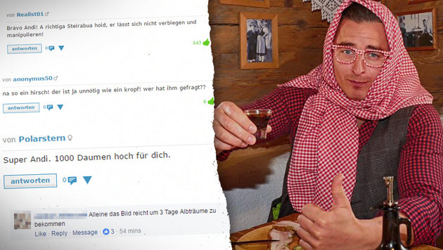 "Nach Kopftuch-Posting: ""Gabalier for President!"" (Bild: Sepp Pail, Screenshot krone.at)"