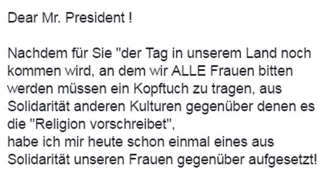 """Andreas Gabalier trägt Kopftuch aus """"Solidarität"""" (Bild: facebook.com)"""