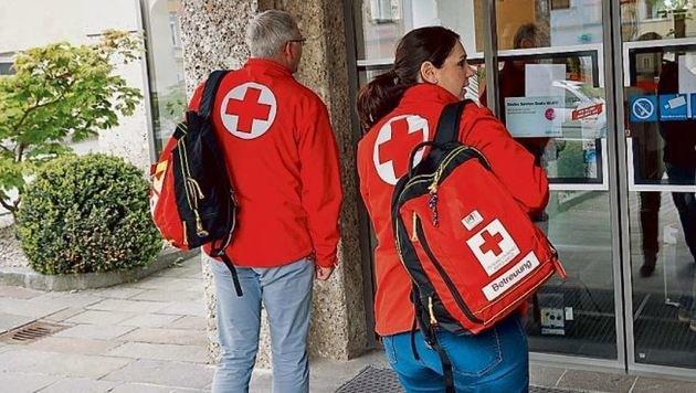 Das Kriseninterventionsteam betreute die Bankmitarbeiter. (Bild: Markus Tschepp)