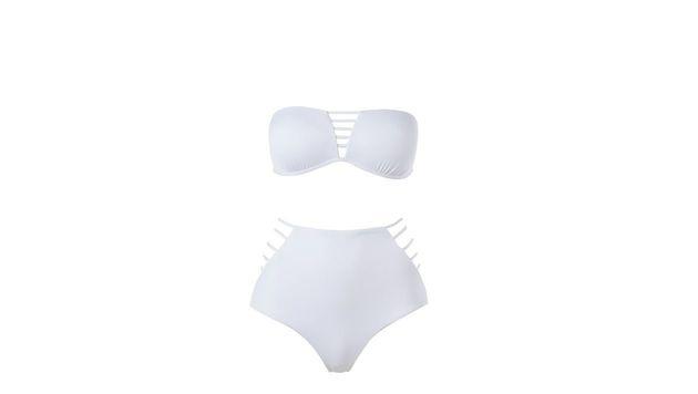 Weißer Bikini mit hoch geschnittenem Höschen (Bild: Calzedonia)